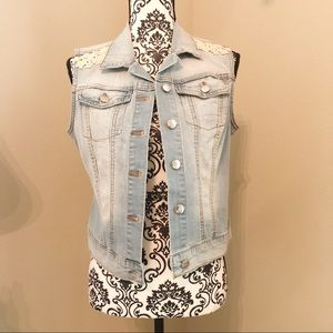 Jessica Simpson Pixie Denim Jacket Vest Size M